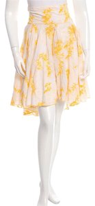 Diane von Furstenberg Skirt Yellow and white