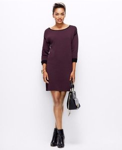 Ann Taylor short dress plum, black Drop Shoulder on Tradesy