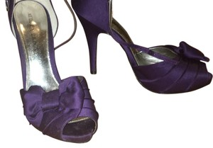 Audrey Brooke Bridesmaid Heels Purple Formal