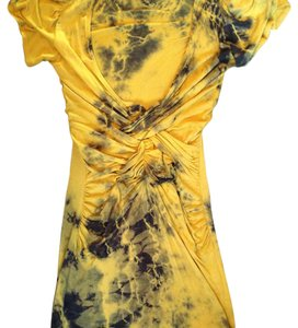 Arden B. short dress Yellow Tie Dye Short Sleeve on Tradesy