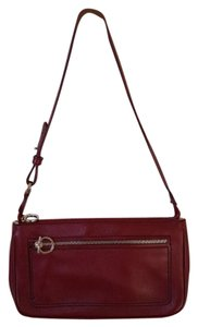 Salvatore Ferragamo Leather Gancio Wine Shoulder Bag