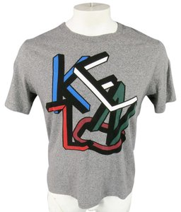 Kenzo Logo Letters Graphic Abstract T Shirt Gray