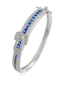 Kenneth Jay Lane CZ by Kenneth Jay Lane 12Cttw Princess Hbang Buckle Classic