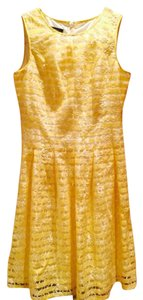 Nine West short dress Yellow and white on Tradesy