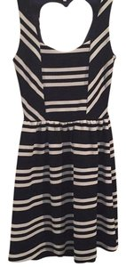 Charlotte Russe short dress Navy and white on Tradesy