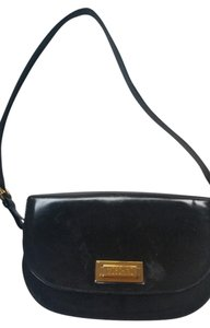 Moschino Patent Leather Gold Hardware Cross Body Bag