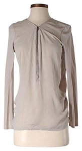 The Kooples Silk Longsleeve Top Beige
