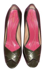 Kate Spade Cute Heels Dark Green Pumps