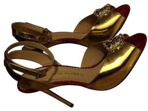 Charlotte Olympia Metallic gold Sandals