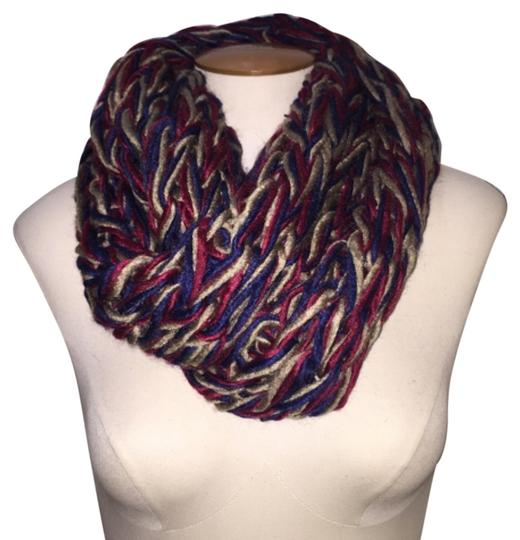 Boutique Chunky Tri-Tone Chain Acrylic Knit Infinity