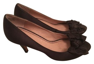 BP. Clothing Bows Open Toe Brown Pumps