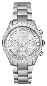 Michael Kors Silver Chronograph Brinkley Watch