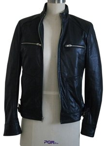 Mossimo Supply Co. Leather Moto Real Leather Motorcycle Jacket