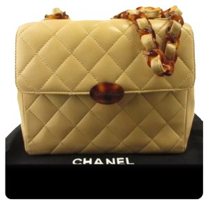 Chanel Cc Quilted Leather Lamb Skin Shoulder Bag
