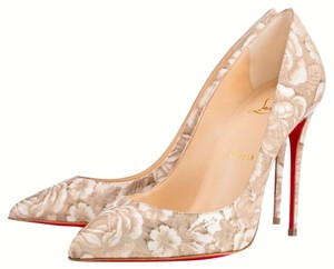 Christian Louboutin Iriza Prcelaine Red Redsole Beige Pumps