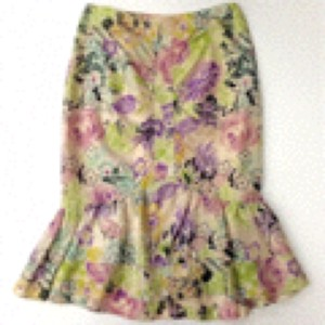 Nanette Lepore Skirt Pink, Cream, Purple