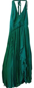 BCBG Halter Open Back Flowy Slit Dress
