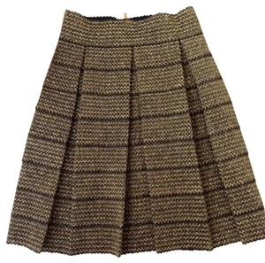 Fun 2 Fun Skirt Metallic Gold Black