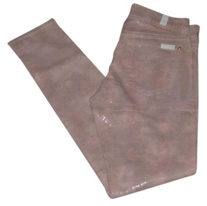 7 For All Mankind Skinny Pants Mauve snake print