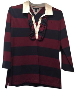 Tommy Hilfiger Button Down Shirt Maroon
