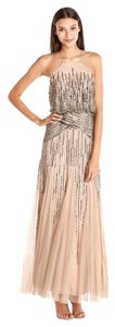 Adrianna Papell Beaded Halter Gown Bridesmaid Dress