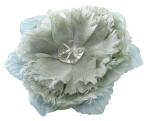 Ann Taylor LOFT Light Blue Chiffon Flower Pin Brooch Coat Jacket Lapel Hat Bag