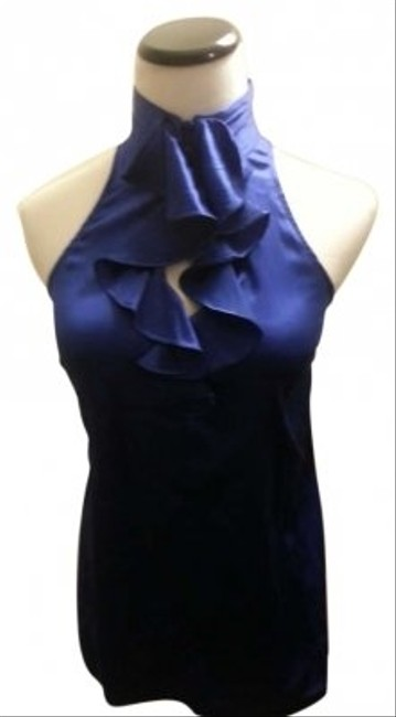 Preload https://item4.tradesy.com/images/express-cobalt-blue-glamourous-silk-ruffle-blouse-size-4-s-165313-0-0.jpg?width=400&height=650
