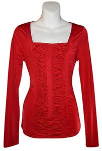 Carmen Marc Valvo Top Red