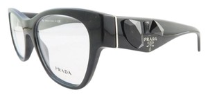 Prada PRADA VPR 07R-1O1 Black Jeweled Demo Eyeglasses
