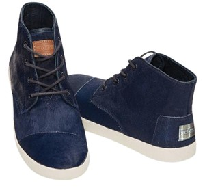 TOMS Sneaker Calf Paseo High Navy blue Boots
