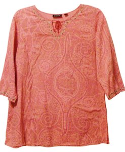 Avenue Plus-size Embroidered Embellished Cotton Beaded Tunic