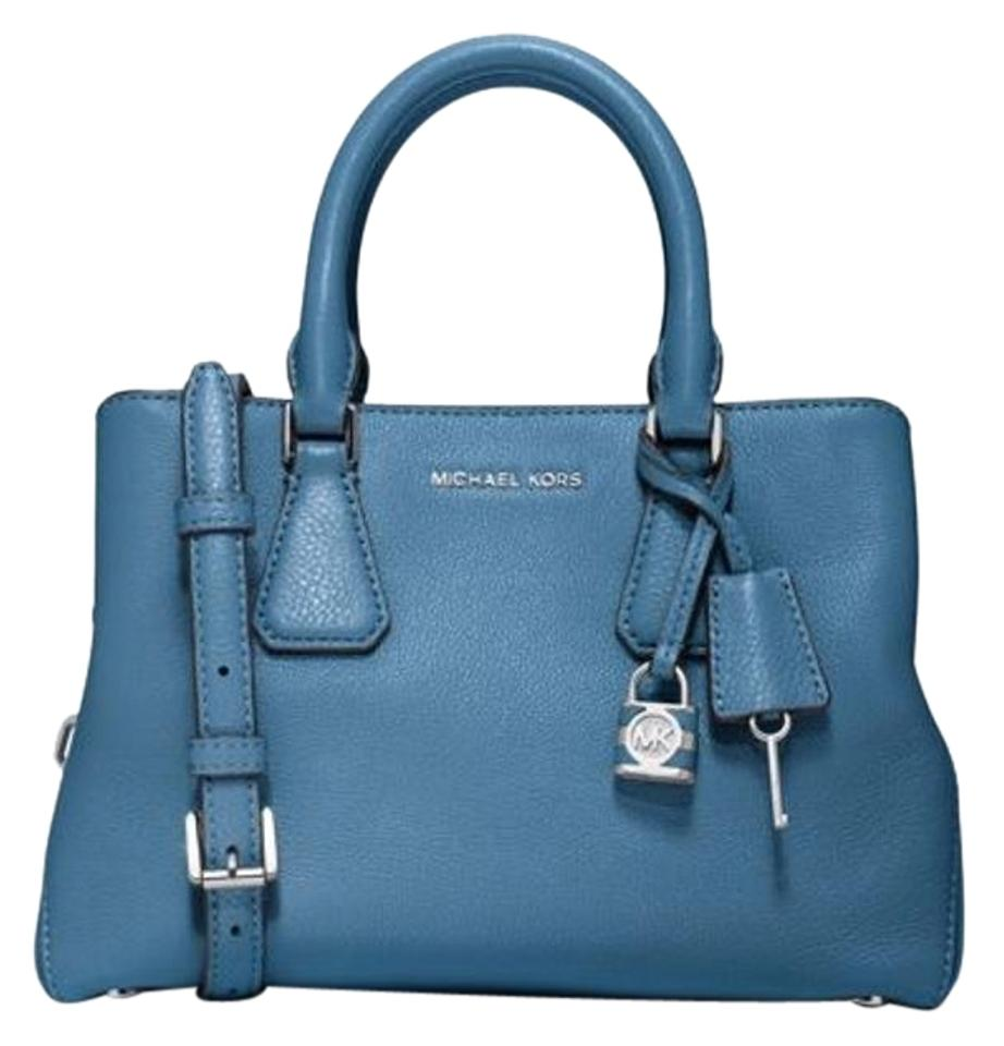 a532a09ab721 Michael Kors Camille Small Sky Leather Satchel - Tradesy