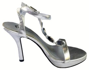 Fioni Padded Footbed Open Toe Night SIlver Sandals