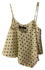 SIN Top Black and white polka dots