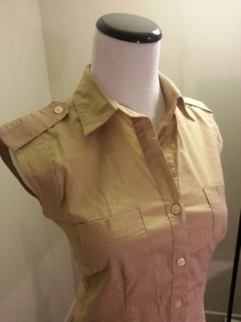 Old Navy Button Down Shirt Beige