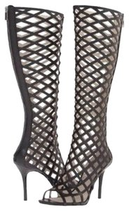 Michael Kors Summer Chic Runway Gladiator Caged Heel Black Boots