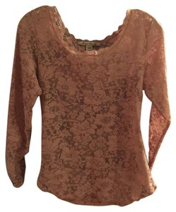 American Eagle Outfitters Lace Seethru Top Pink blush