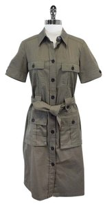 Burberry Army Green Short Sleeve Dress