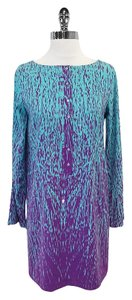 Nicole Miller short dress Blue Purple Fade Long Sleeve on Tradesy