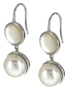 Honora Honora Cultured Pearl and Mother-of-Pearl Sterling Silver Drop Earrings