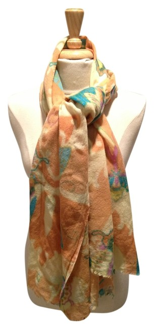 Item - Orange Turquoise Pink Yellow Butterfly Patterned Scarf/Wrap