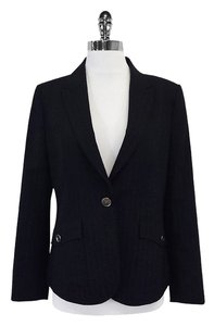 Burberry Navy Wool Pinsgtripe Jacket