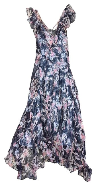 Item - Multi-color Floral Chiffon Knee Length Casual Maxi Dress Size 4 (S)