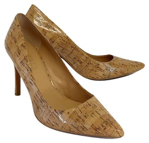 Ralph Lauren Glazed Cork Pointed Toe Heels Pumps