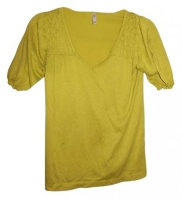 Xhilaration V-neck T Shirt Yellow-Green