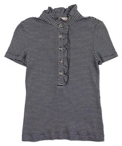 Tory Burch Dark Navy White Striped T Shirt