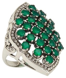 "Nicky Butler Nicky Butler 2.60ct Green Chalcedony Sterling Silver ""Arabesque"" Ring - Size 7"