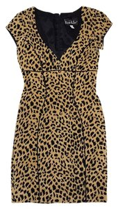 Nicole Miller short dress Short Sleeve Cheetah Print on Tradesy