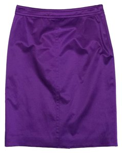 Hugo Boss Purple Satin Pencil Skirt