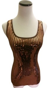 Express Top Brown/Gold Sequined